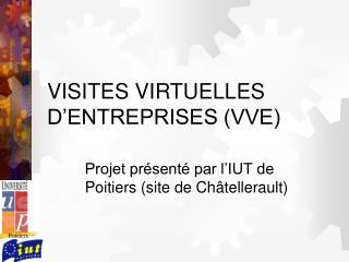 VISITES VIRTUELLES D'ENTREPRISES (VVE)
