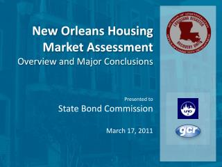 Presented to State Bond Commission March  17, 2011
