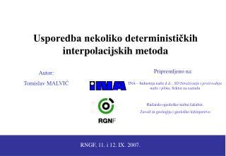 RNGF, 11. i 12. IX. 2007.