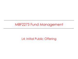MBF2273 Fund  Management