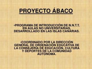 PROYECTO  BACO