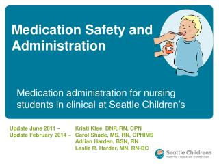 Medication Safety and Administration