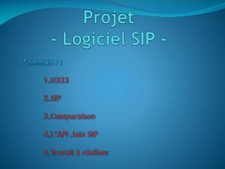 Projet  - Logiciel SIP -