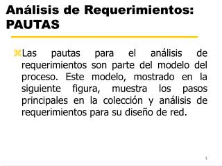 Análisis de Requerimientos: PAUTAS
