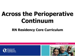Across the Perioperative Continuum