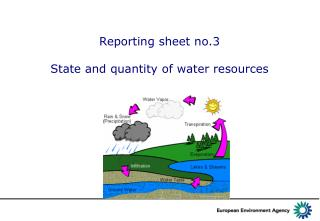 Reporting sheet  no. 3 State and quantity of water resources