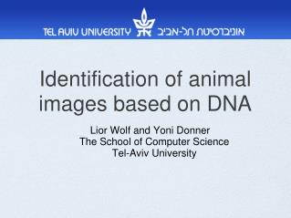 Identification of animal images based on DNA