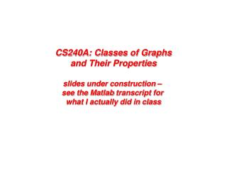 Some graph statistics (and  Matlab  tools)