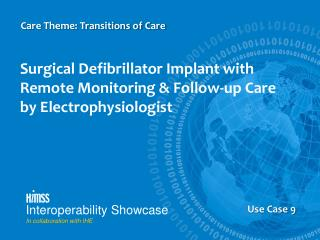 Surgical Defibrillator Implant with Remote Monitoring & Follow-up Care  by  Electrophysiologist