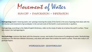 HYDROGEOLOGY- GEOHYDROLOGY