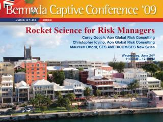 Rocket Science for Risk Managers