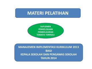 MATERI PELATIHAN