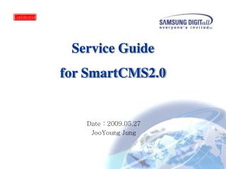 Service Guide for SmartCMS2.0