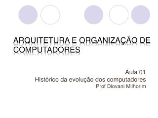 Arquitetura e Organiza  o de Computadores