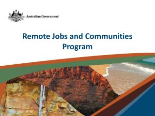 Remote  Jobs and Communities Program