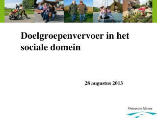 Doelgroepenvervoer in het sociale domein