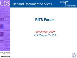 RITS Forum