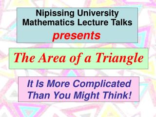 The Area of a Triangle