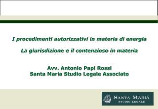 I procedimenti autorizzativi in materia di energia La giurisdizione e il contenzioso in materia