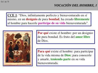 VOCACIÓN DEL HOMBRE, 1