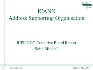 ICANN Address Supporting Organisation