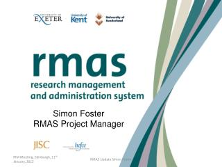 Simon Foster RMAS Project Manager