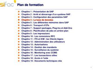 Plan de formation
