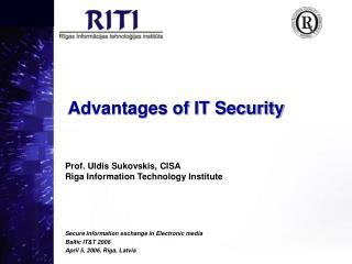 Advantages of IT Security
