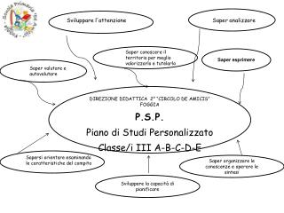 """DIREZIONE DIDATTICA  2° """"CIRCOLO DE AMICIS"""" FOGGIA P.S.P. Piano di Studi Personalizzato"""