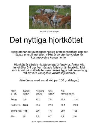 Det nyttiga hjortköttet
