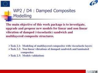 WP2 / D4 : Damped Composites Modelling