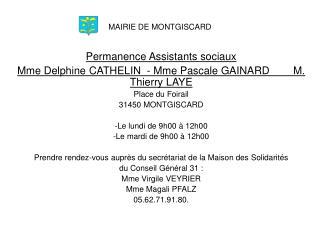 MAIRIE DE MONTGISCARD