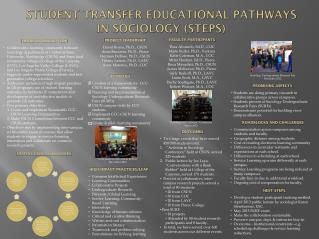 Student Transfer Educational Pathways  in Sociology (STEPS)