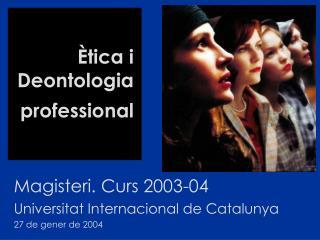 �tica i Deontologia professional