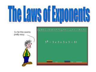 The Laws of Exponents