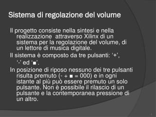 Sistema di regolazione del volume