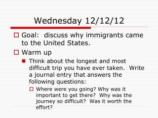 Wednesday 12/12/12