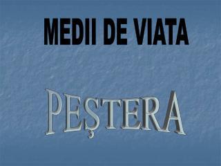 MEDII DE VIATA