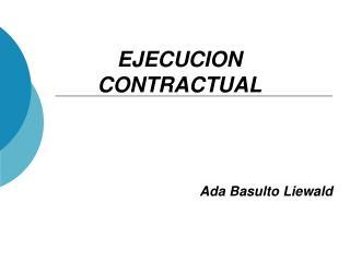 EJECUCION CONTRACTUAL