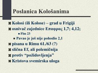 Poslanica Kolo�anima
