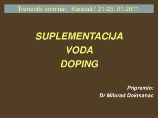 Trenerski seminar,  Karata š / 21-23. 01.2011.