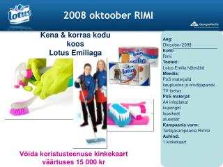 2008 oktoober RIMI