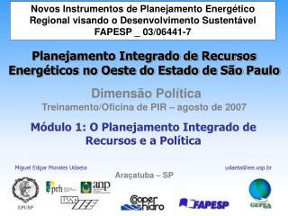 Módulo 1: O Planejamento Integrado de Recursos e a Política