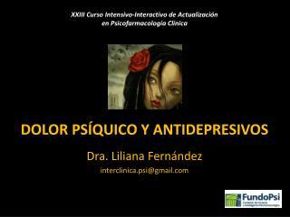 Dolor Ps�quico y antidepresivos