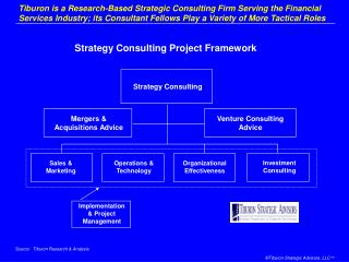 Tiburon is a Research-Based Strategic Consulting Firm Serving the Financial Services Industry; its Consultant Fellows Pl