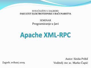 Apache XML-RPC