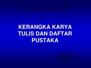 Belajar Bahasa Indones iA