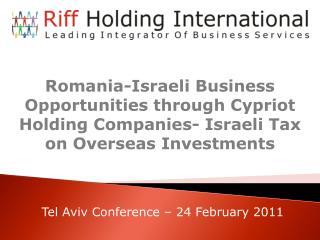 Tel Aviv Conference – 24 February 2011