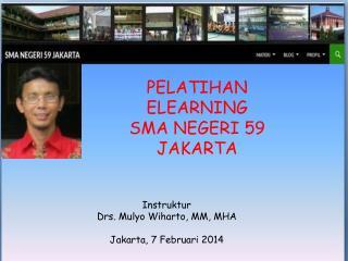 PELATIHAN  ELEARNING  SMA NEGERI 59 JAKARTA