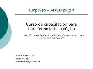 EmpWeb – ABCD plugin